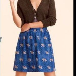 J Crew Mercantile Tiger Skirt size 4